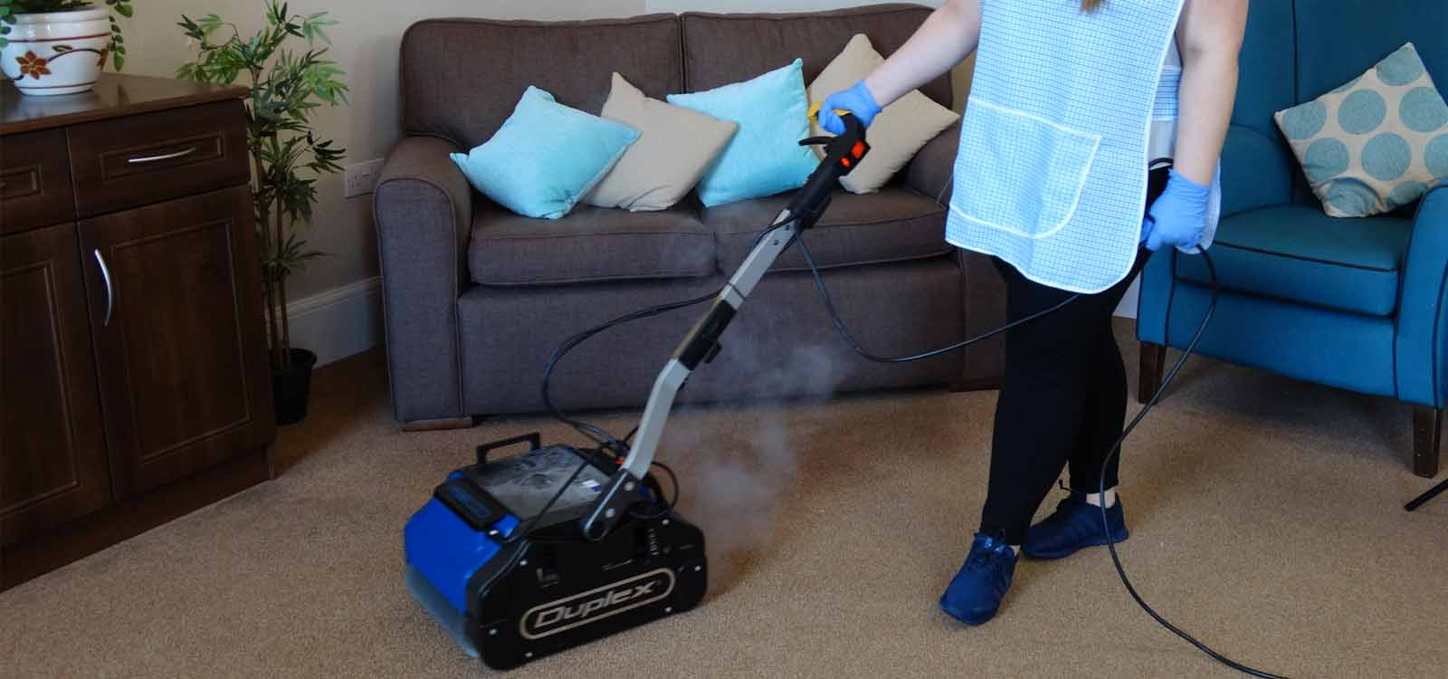 Carpet cleaning with floor cleaning equipment